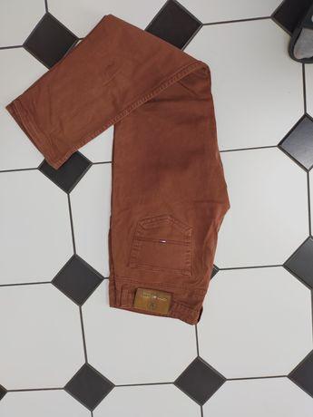 Spodnie jeansy Tommy Hilfiger 38 XL spodnie jeansy brąz brązowe
