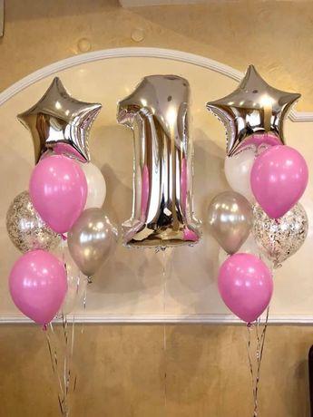 Кульки з гелієм цифри повітряні аеродизайн шарики з гелієм