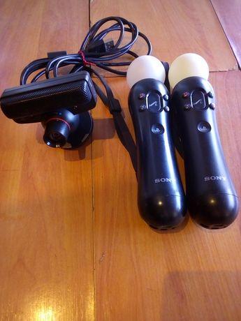 Manetes PS3 e câmara ps3