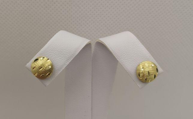 Piękne złote kolczyki , sztyfty. Złoto pr. 585