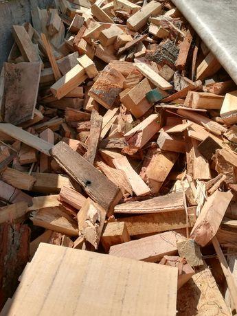 Drewno opałowe zrzyny buk dąb sezonowane transport