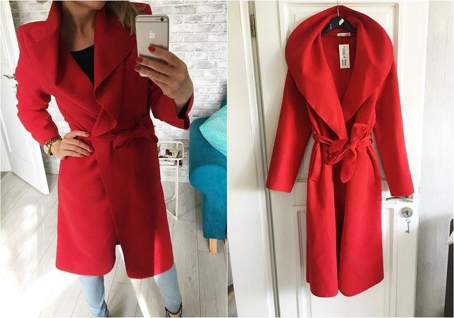 Płaszcz NOWY płaszczyk czerwony 34 XS 36 S 38 M 40 L 42 XL jesienny
