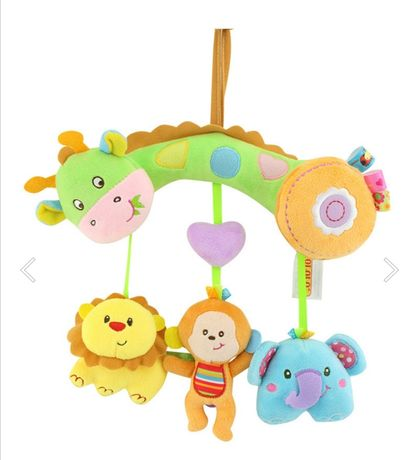 Мягкая игрушка с животными для новорожденных от 0 до 12 месяцев