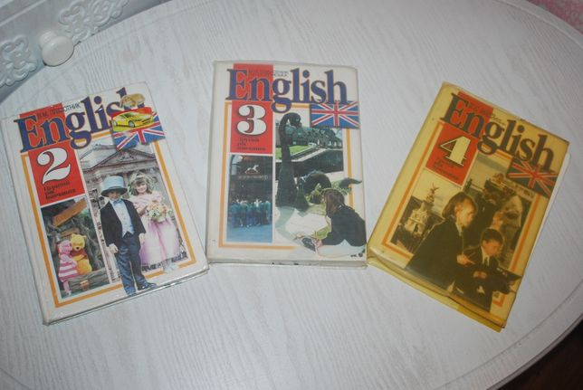 3 підручника English 2,3,4 класи.