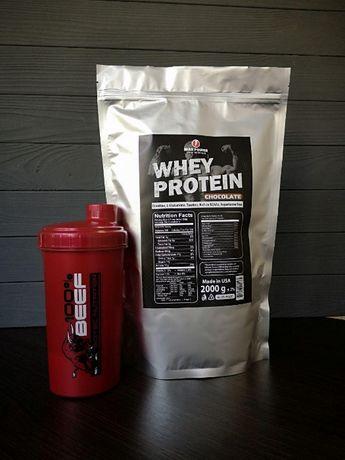 АКЦИЯ! Протеин сывороточный 2 кг + Шейкер!