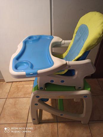 Stolik do karmienia, funkcjonalny, bujak, regulowane krzesełko.
