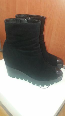 зимові сапоги зимние ботинки 37 - 38 р. замшеві сапожки