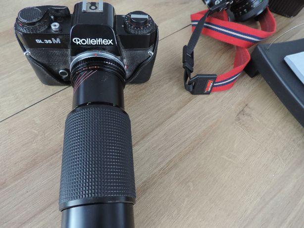 aparat kolekcjonerski rollelflex sl 35m obiektyw lens 75 300mm