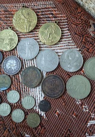 Монеты серебро,медь,СССР, Украина, иностранные,браки на украинских