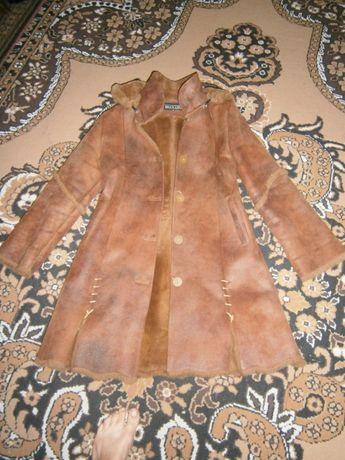 Пальто, дублёнка женская подростковая зимняя 44-46 р.