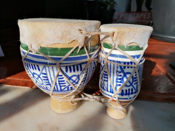 Djambé em cerâmica, 14 cm altura