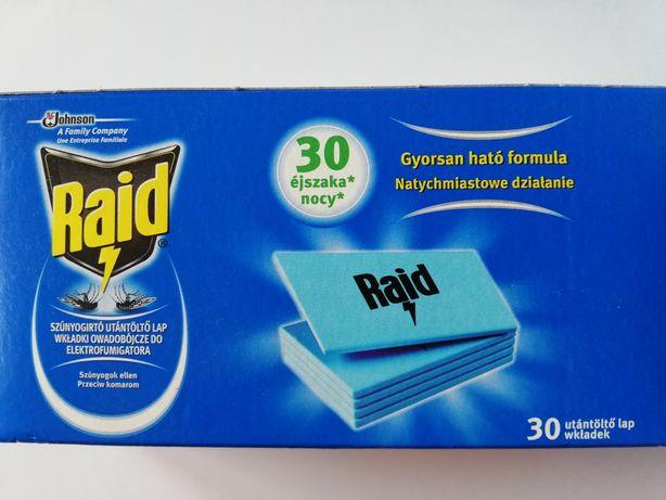 Wkładki, płytki Raid przeciw komarom idealne na działkę lub kamper