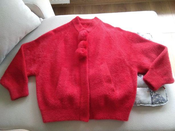 Sweter, blezer z pomponami