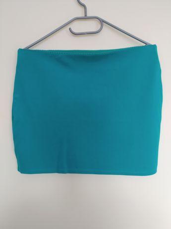 Turkusowa krótka spódniczka/spódnica/mini/miniówka Orsay rozmiar L