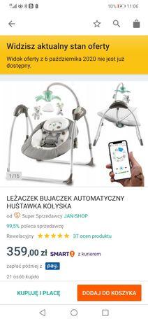 Leżaczek bujaczek automatyczny sterowany telefonem