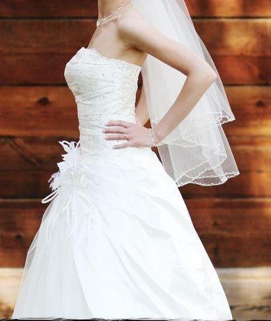 Suknia ślubna ecru, rozmiar 34, 36, 38