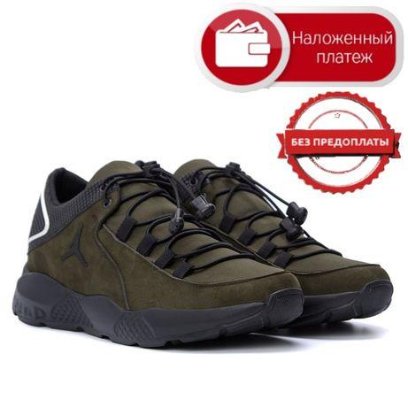 Топ продаж Новые Мужские кожаные кроссовки Jоrdоn ОІіvе Без предоплаты