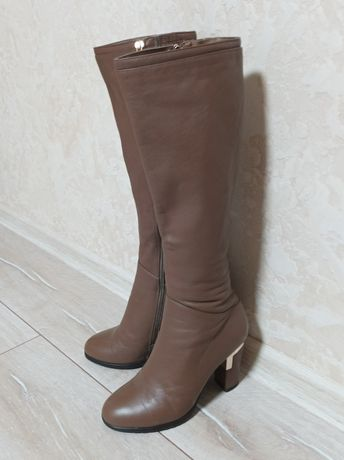 Кожаные сапоги Турция.