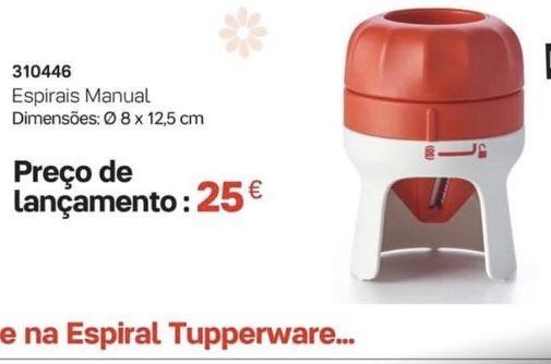Espiral manual tupperware