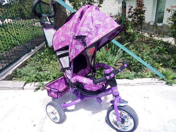 Детский трехколесный велосипед.ФИОЛЕТОВЫЙ