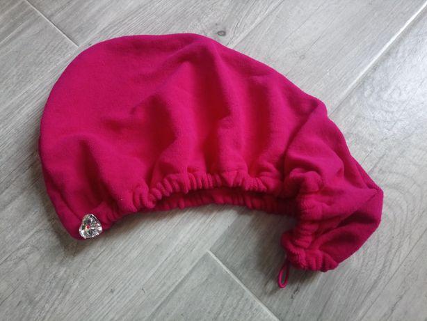 Nowy turban ręcznik na głowę Primark Ozdobne serce róż fuksja