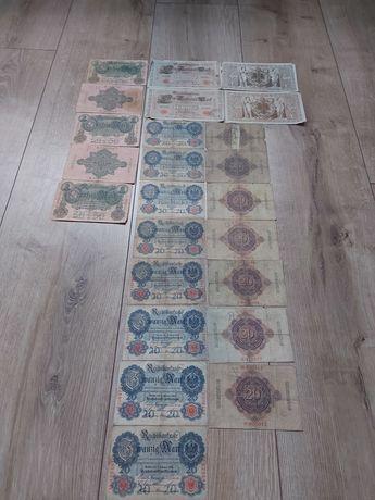 Kolekcja banknotów stare Niemcy rok wydania 1910