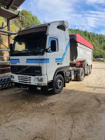 Conjunto Trator Volvo FH12 460 e S. Reboque Basculante Galucho SGB2 K5