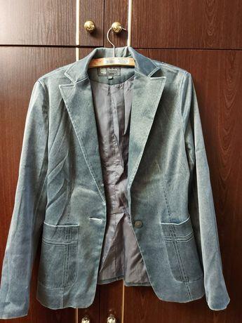 Пиджак серебро  с отливом