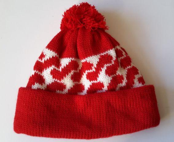Шапочка шапка бини вязаная зимняя детская