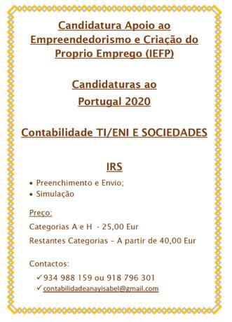Fazemos IRS; Contabilidade TI,ENI e Soc.; Candidaturas Portugal 2020