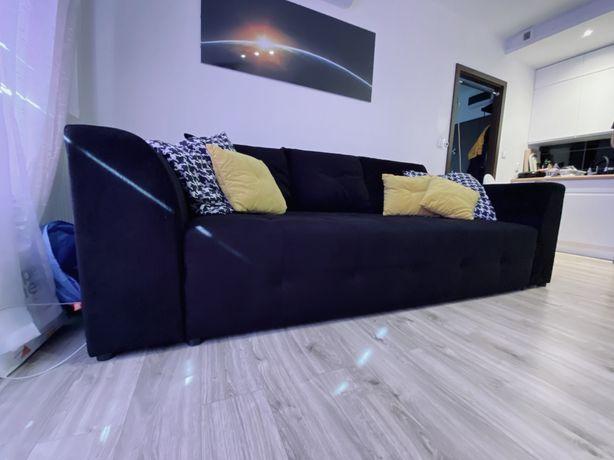 Sofa czarna Royal IV MEGA LUX