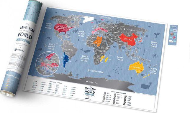 НОВАЯ Скретч карта TRAVEL MAP WEEKEND настенная подарок игрушка 1dea