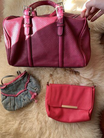 Malas cor de rosa Bershka e Parfois