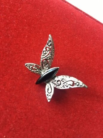 Винтажная ажурная брошь бабочка, США