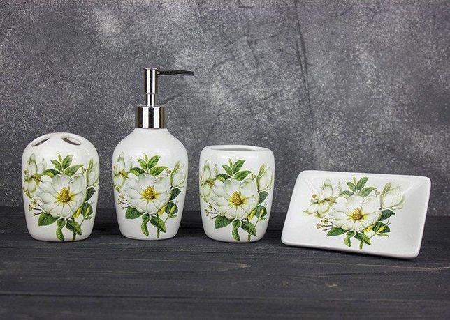 Набор аксессуаров для ванной Дикая роза керамика