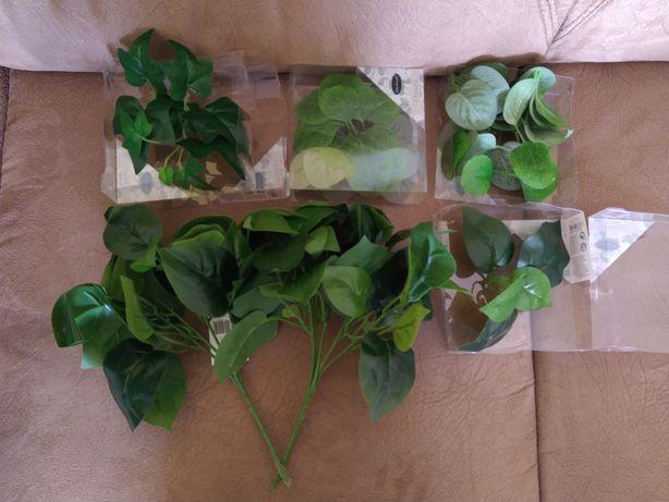 Zielone liście sztuczne
