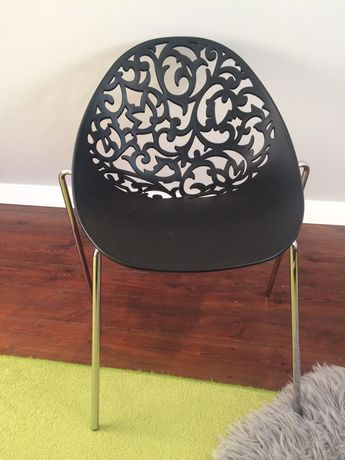 Krzesło plastikowo-metalowe, dostępna 1szt.