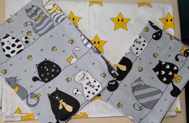 Стильний комплект постільної білизни в дитяче ліжечко. Висока якість.