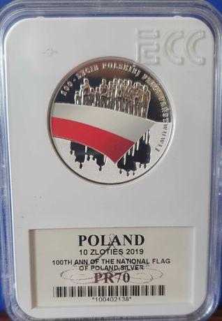 Sprzedam monetę 10 zł. 100 lecie Polskiej Flagi 2019 r.