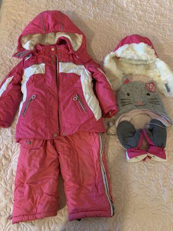 Зимняя куртка и комбинезон Chicco ( Италия) р 98 см