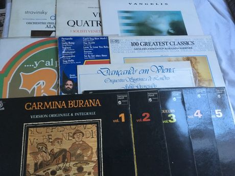 Lote 12 LP's vinil - Clássica, Carmina Burana, Stravinsky, Vivaldi, Va