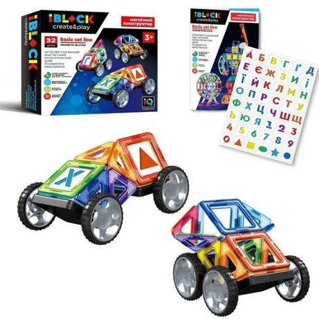 Магнитный конструктор машины, магнитный транспорт, всего 32 деталей