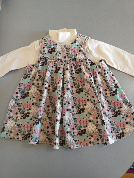 Вельветовое платье H&M + Гольф,водолазка Dodipetto 9-12мес, 74-80см