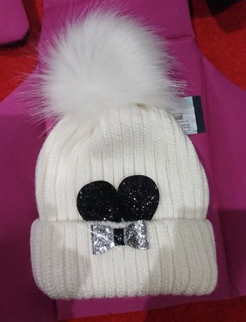 Новая зимняя шапочка на флисе на девочку 4- 6 лет