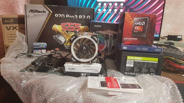 Игровой ПК FX8350 8 ядер (по 4 ГГц), HyperX 16gb ОЗУ , SSD