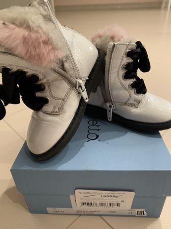 Ботинки зимние на меху р 21 Simonetta,Florens,Ecco,Geox