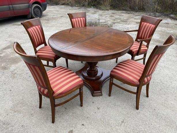 стіл круглий розкладний і 5 крісел