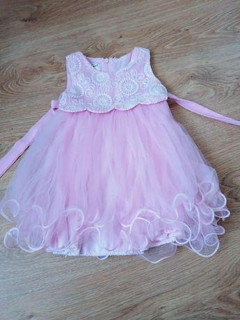 Śliczna sukienka wesele komunia rozmiar 80