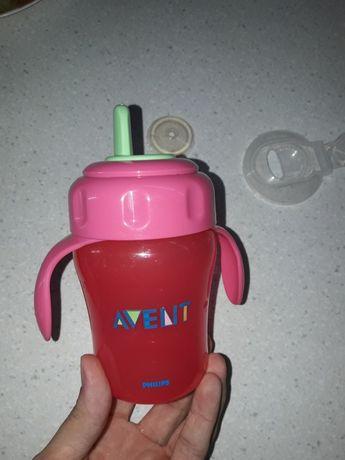 Поилка непроливайка бутылочка для воды бутылка  поильник Авент Avent