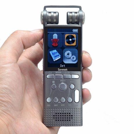 Профессиональный цифровой диктофон Savetek GS-R06 16GB 100 час. записи